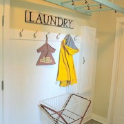 Laundry Room Ladder Drying Rack
