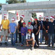 Habitat volunteers in the Christmas spirit
